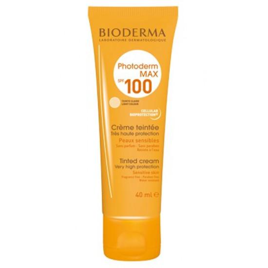 بيوديرما فوتودرم أكوا فلويد +SPF100 واقي شمسي مع كريم أساس فاتح 40 مل